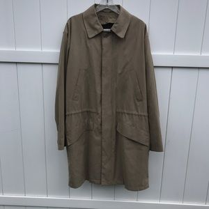 London Fog Trench Coat Jacket Coat Mens Medium Tan